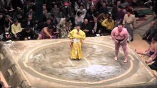 臥牙丸vs貴ノ岩2015大相撲一月場所7日目GagamaruvsTakanoiwaSUMO