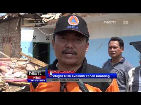 Puluhan Rumah di Cianjur Diterjang Angin Puting Beliung - NET16