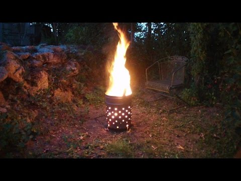 Feuertonne, eine gute Alternative zum Feuerkorb; make yourself a own fire barrel
