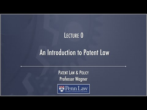 Lecture 00 - Introduction to Patents - YouTube