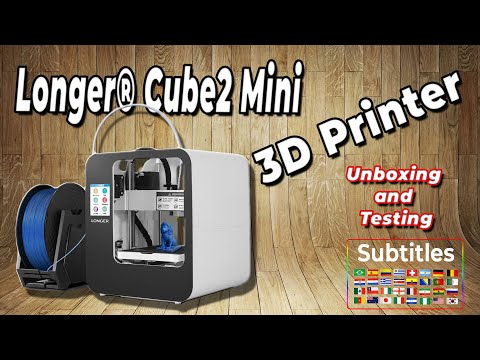 UNBOXING e Test Mini Stampante 3D Longer ® Cube2 | SUBTITLES | 3D Printer