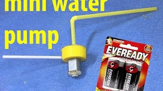 How to make High Power Mini Water Pump at home