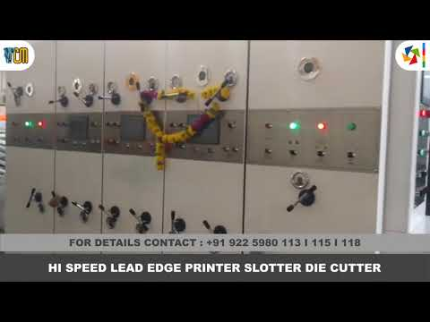 High Speed Printer Slotter Die Cutter