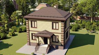 Проект дома 081-А, Площадь дома: 81 м2, Размер дома:  9х7 м