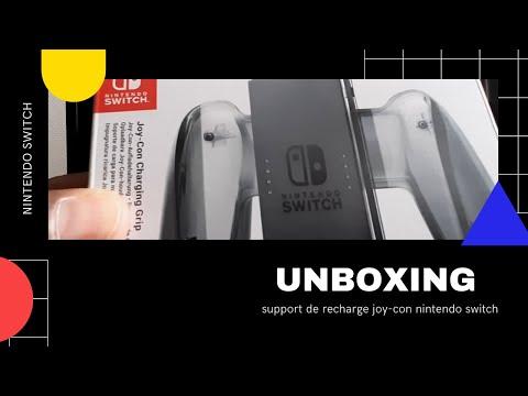 unboxing présentation du support de recharge joy con officiel