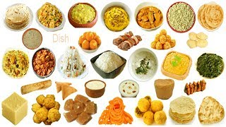 Indian Subcontinent Dishes Names Meaning & Pictures | Indian Dishes Vocabulary