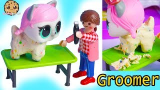 Shave Pets Hair ! LOL Surprise + Playmobil Pet Groomer On The Go - Video