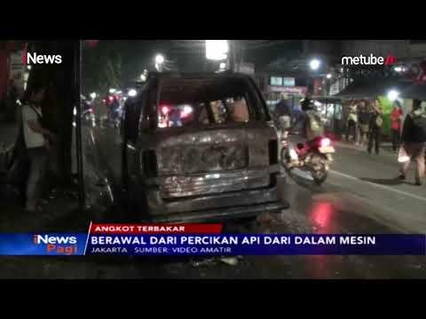 Korsleting Mesin, Angkot D 102 Jurusan Parung-Pondok Labu Terbakar - iNews Pagi 16/07