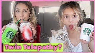 TWIN TELEPATHY STARBUCKS challenge | Letting Starbucks Baristas Pick Our Drinks !