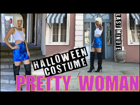 DIY: Last Minute NO-SEW Halloween Costume (Pretty Woman!!)- by Orly Shani