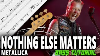 Metallica   Nothing Else Matters   BASS Tutorial [With Tabs]   Play Along