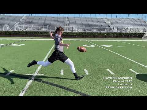 Hayden Asprion - Ray Guy Prokicker.com Punter, Louisiana, Class of 2022