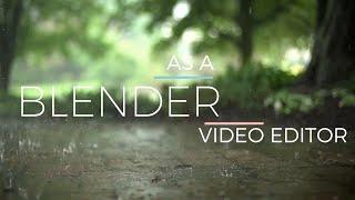 Basic video editing in Blender!!