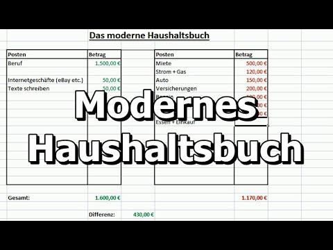Das moderne Haushaltsbuch (Geld sparen, Einnahmen - Ausgaben)(mit Excel erstellen)