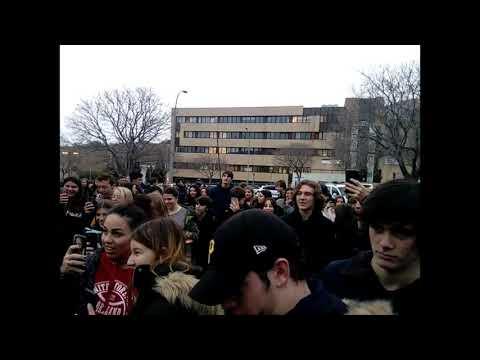 VIDEO. Nouveau baccalauréat : blocage du lycée Giocante à Bastia