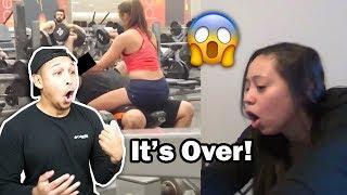 GUY GETS BONER w/HOT PHYSICAL TRAINER! Girlfriend Flips!