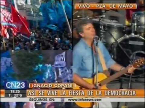Ignacio Copani - Día de la Democracia y los Derechos Humanos (09-12-2012)