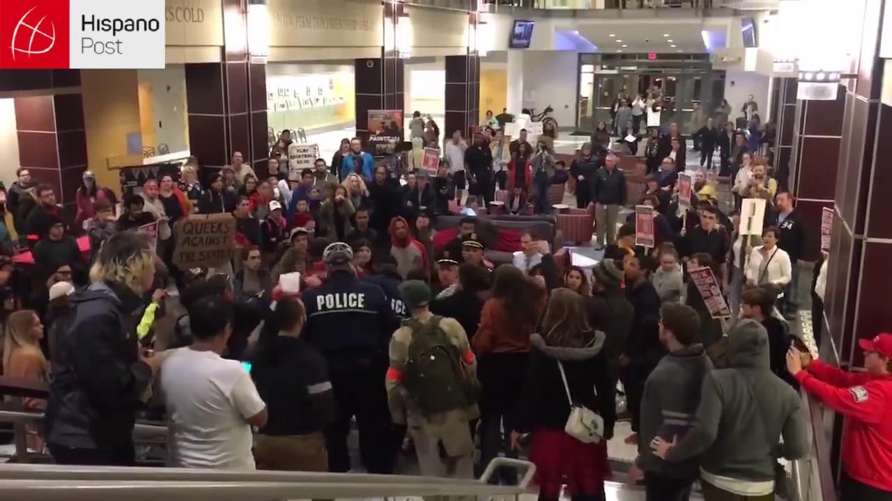 11 16 16 Sujeto atacó una manifestación anti Trump en Ohio