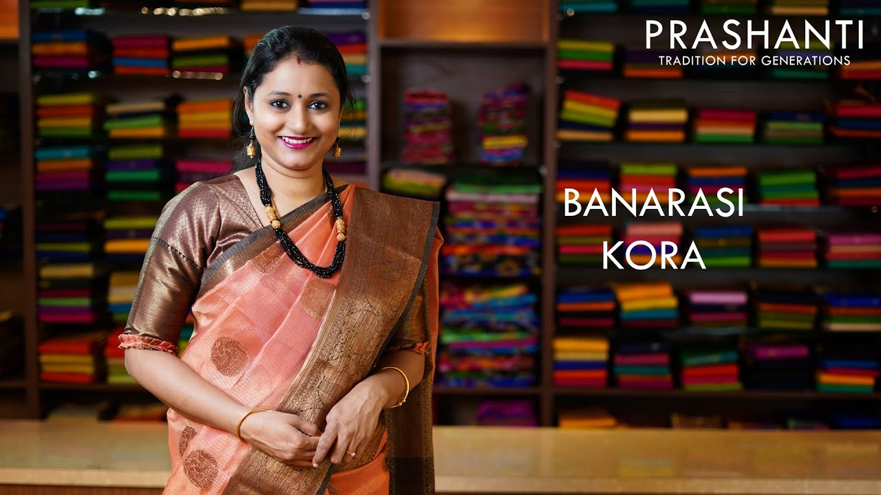 "<p style=""color: red"">Video : </p>Banarasi Kora Sarees 