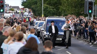 video: Thousands line streets of Ashington to pay respects to Jack Charlton on day of his funeral