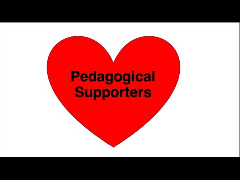 Thanks to pedagogical supporters