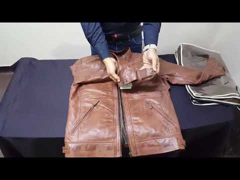 Unboxing of Geniune Brown Leather Jacket