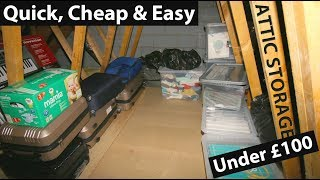 DIY LOFT STORAGE (UNDER $100) - How To Add Quick, Cheap, Easy space to your house or new build