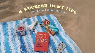🍋 A Weekend Of Intern Life In Amsterdam 🍋 Travelling To A Beach + Ups And Downs Of Living Alone