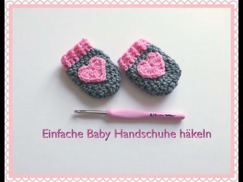 SUPER EINFACHE Baby Handschuhe häkeln