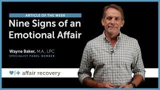 Nine Signs of an Emotional Affair