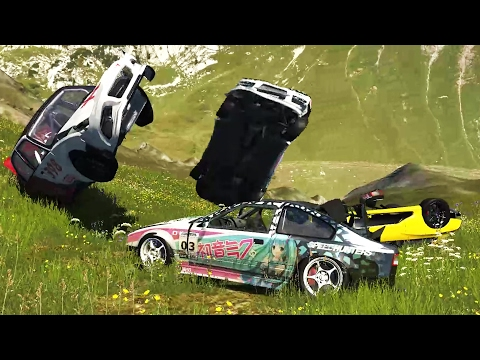 DRIVING CARS OF OFF CLIFFS! A Crash Test Compilation - BeamNG Drive Crashes Gameplay Highlights