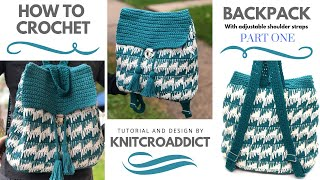 How to crochet : Backpack Part 1