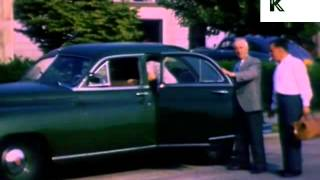 Late 1940s New York, Rare Colour Home Movie, Manhattan, Archive Footage