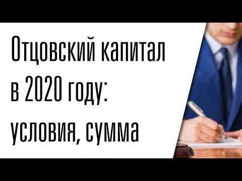 Отцовский капитал в 2020 году: условия, сумма, закон