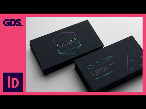 Create a business card in Adobe InDesign Ep7/15 [Multimedia design course – Print]