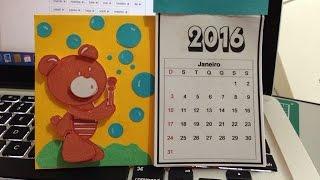 calendario 2016  em scrap para iniciantes