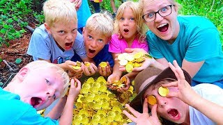 WE FOUND A REAL TREASURE FULL OF GOLD COINS! GHOST HUNT! - Video Youtube