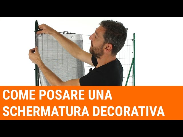How to lay a decorative screening