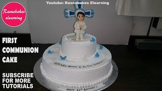 how to make first holy communion cakes for boy:cake decorating tutorial classes video