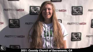 2021 Cassidy Church Shortstop Softball Skills Video
