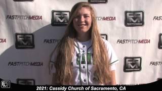 2021 Cassidy Church Shortstop Softball Skills Video