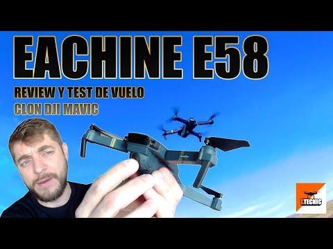 eachine-e58-clon-dji-mavic--altitude-hold-fpv-review-y-test-español