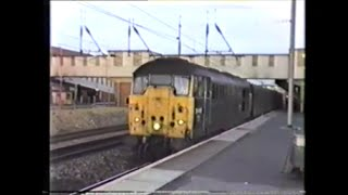 preview picture of video 'Trains In The 1990's   Peterborough, Summer 1991 Part 2'