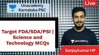 Target FDA/SDA/PSI | Science & Technology MCQs | Sanjay Kumar HP