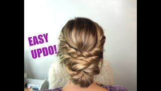 Easy Updo Hairstyle! Perfect For Short, Medium And Long Hair