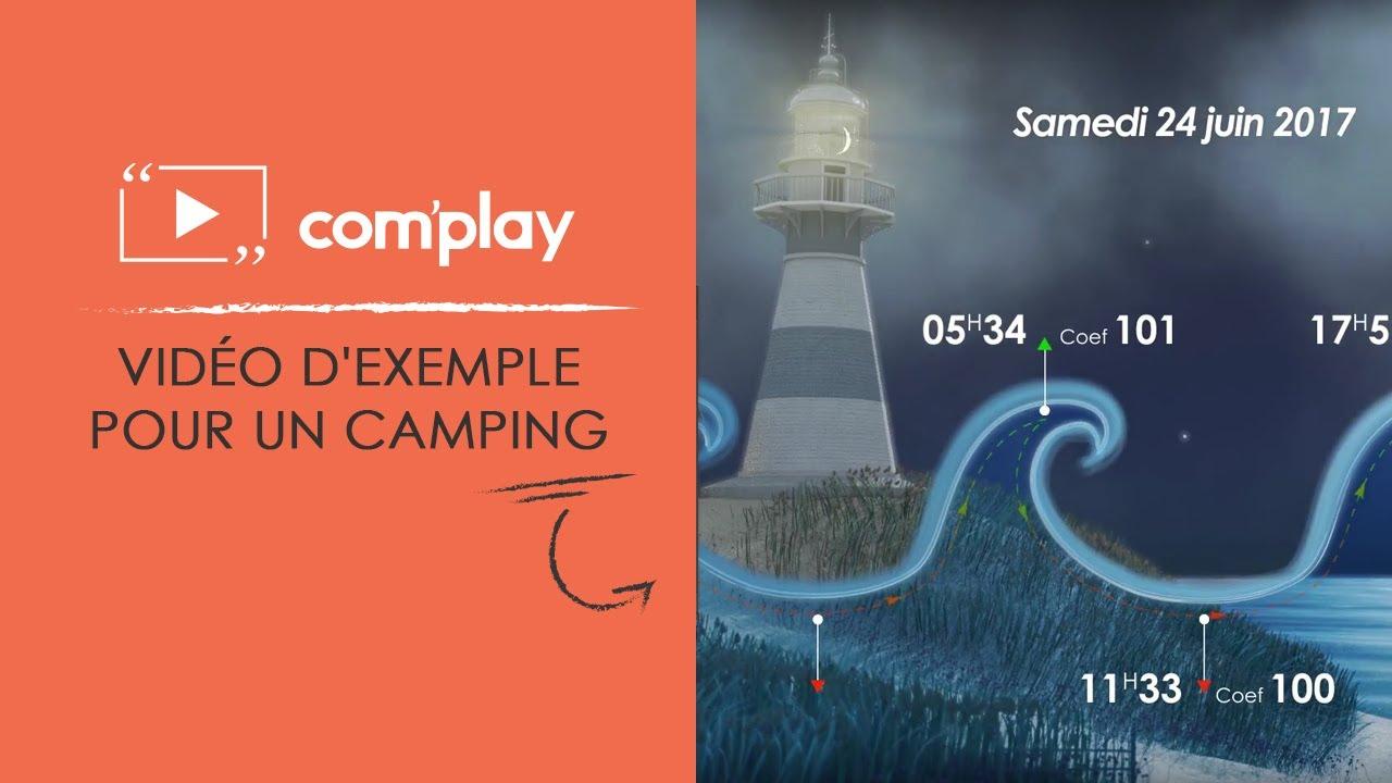 Image YouTube Affichage dynamique : exemple de diffusion pour un camping