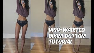 HIGH WAIST CROCHET BIKINI BOTTOM TUTORIAL