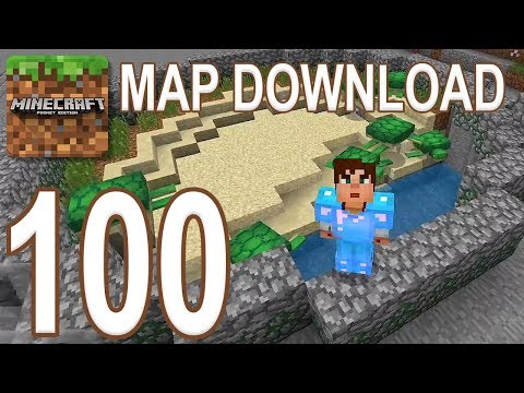 Minecraft: Pocket Edition - Gameplay Walkthrough Part 100 - Map Download Survival (iOS, Android)