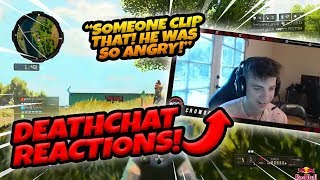 DEATH CHAT REACTIONS! HILARIOUS CLIPS (Call of Duty: Blackout)
