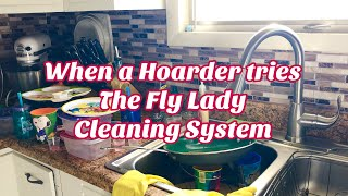 When Hoarders TRY The Flylady Cleaning Method! Baby Steps Day 1-7 To Clean House! Shine Your Sink